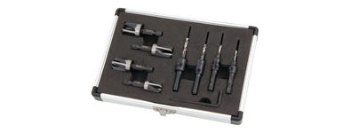 8pc Plug Cutter and Countersink Set